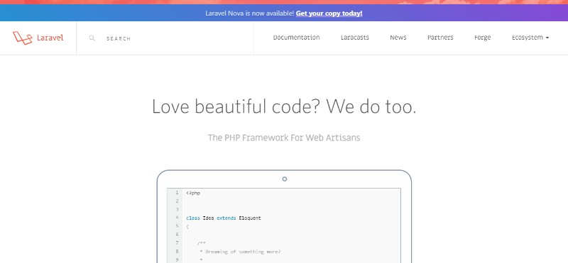 Web Development Frameworks Laravel