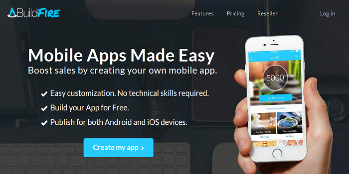 create your own mobile app for free