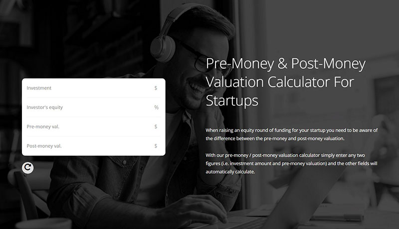 Pre-Money and Post-money valuation calculator