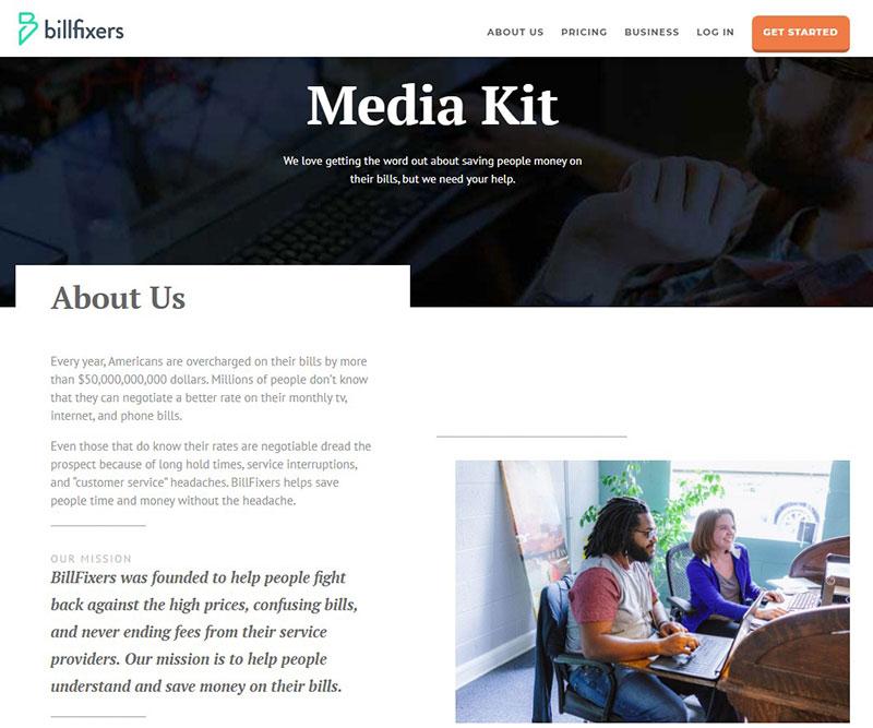 BillFixers - fixed the Media kit problem